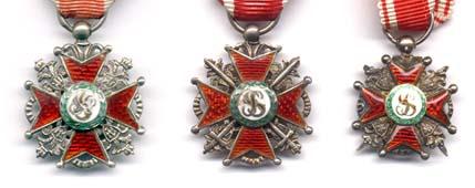 три фрачника ордена Св.Станислава