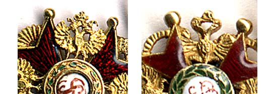 Орлы на фрачниках ордена Св.Станислава